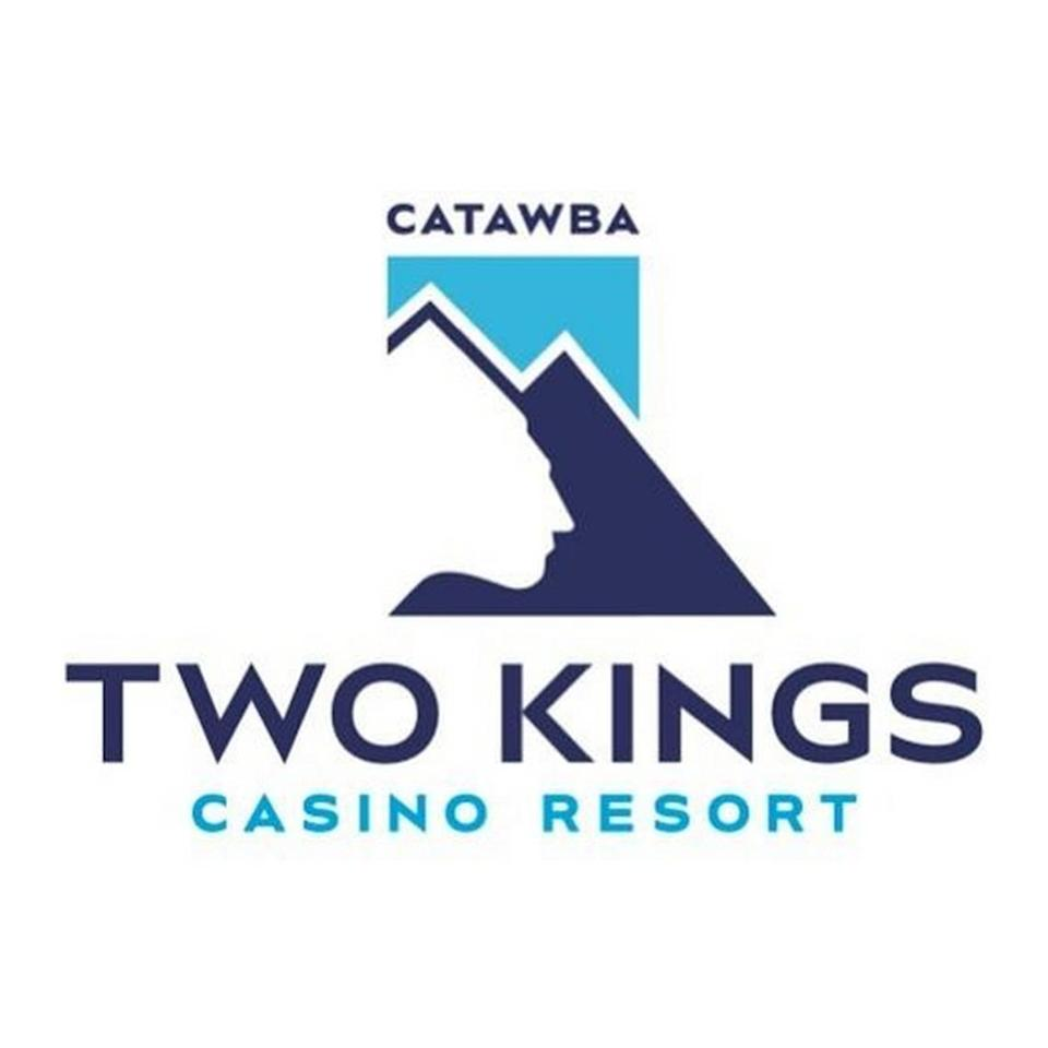 The Catawba Nation unveiled this logo last year for its planned Two Kings Casino Resort in Kings Mountain, N.C. The logo features a silhouette of 18th-century King Hagler against an image of Kings Mountain.