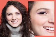 """<p>If the corners of your eyes slope toward your cheekbones, you have <strong>downturned eyes</strong>. </p><p>For downturned eyes, Lavonne recommends applying your eyeliner from the inner corner to the outer corner in a thin line. Extend your wing up toward the crease, using the outer corner of your eyebrow as a guide (don't extend further!). Give your overall look a <a href=""""https://www.goodhousekeeping.com/beauty/makeup/a33258/how-to-wear-blue-mascara/"""" rel=""""nofollow noopener"""" target=""""_blank"""" data-ylk=""""slk:pop of color"""" class=""""link rapid-noclick-resp"""">pop of color</a> by picking a pretty shade that complements your irises.</p>"""