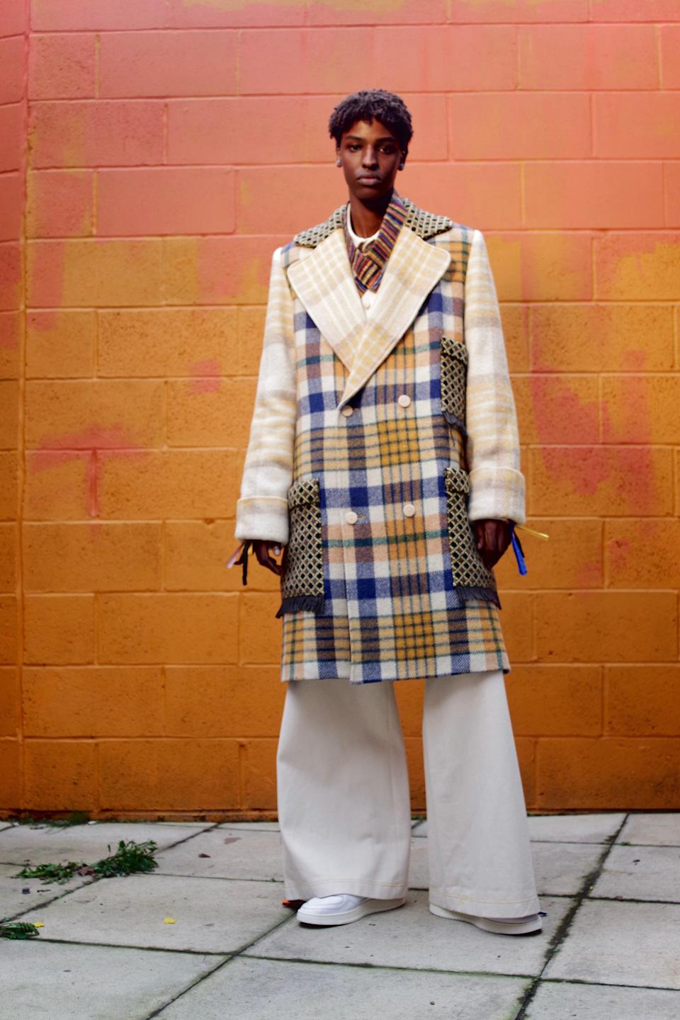 Bethany Williams' genderless collection of coats made from recycled blanketsBethany Williams