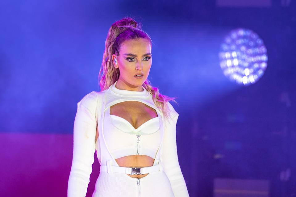 Perrie Edwards of Little Mix performs on stage during day 3 of Fusion Festival 2019 on September 01, 2019 in Liverpool, England.  (Photo by Joseph Okpako/WireImage)