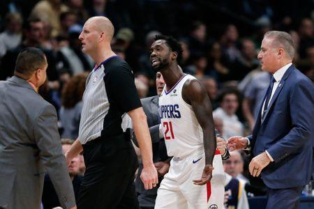 Jan 10, 2019; Denver, CO, USA; Los Angeles Clippers guard Patrick Beverley (21) reacts after getting ejected by referee Eric Dalen (37) in the fourth quarter against the Denver Nuggets at the Pepsi Center. Mandatory Credit: Isaiah J. Downing-USA TODAY Sports