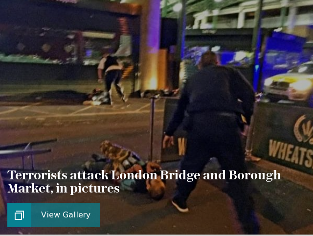 Two dead after reported stabbings on London Bridge, in pictures