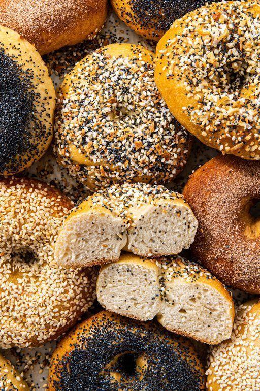 "<p>There's nothing better than waking up to fresh bagels and when it's your own hard work it's even better. One batch of dough can turn into everything, poppy seed, sesame seed, cinnamon sugar, or any of your favourite bagels!</p><p>Get the <a href=""https://www.delish.com/uk/cooking/recipes/a30440241/homemade-bagel-recipe/"" rel=""nofollow noopener"" target=""_blank"" data-ylk=""slk:Homemade Bagels"" class=""link rapid-noclick-resp"">Homemade Bagels</a> recipe.</p>"