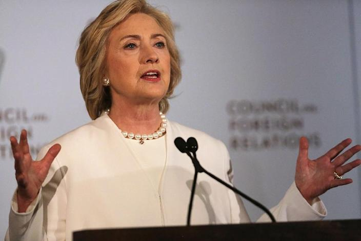 """Democrats have stretched the truth as well -- Hillary Clinton by claiming that her handling of emails through a private server was """"permitted"""" by the State Department (AFP Photo/Spencer Platt)"""