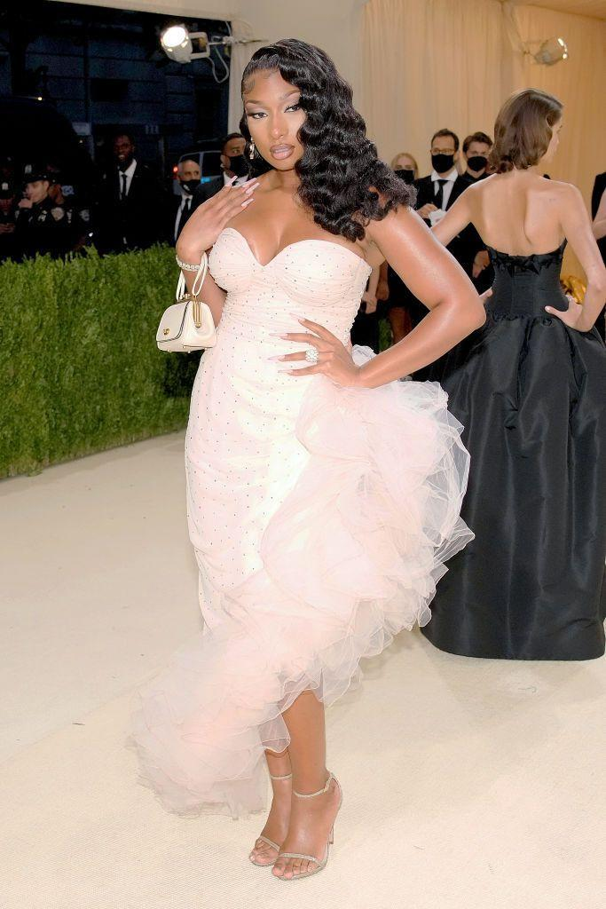 """<p>The <em>""""</em>Thot Shit"""" singer went for a classic old Hollywood screen siren look. While we'd liked to have seen something with just a little more flamboyance to it on the Met Gala red carpet, there's no denying she looked absolutely stunning.</p>"""