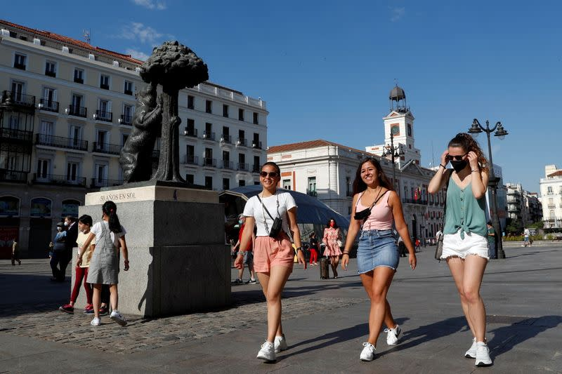 Protective masks no longer required outdoors in Spain