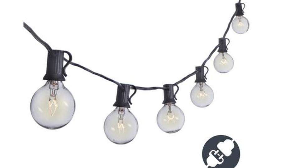 Sterno Home 25-ft. G40 Connectable Clear Bulb Outdoor String Lights - Walmart, $40