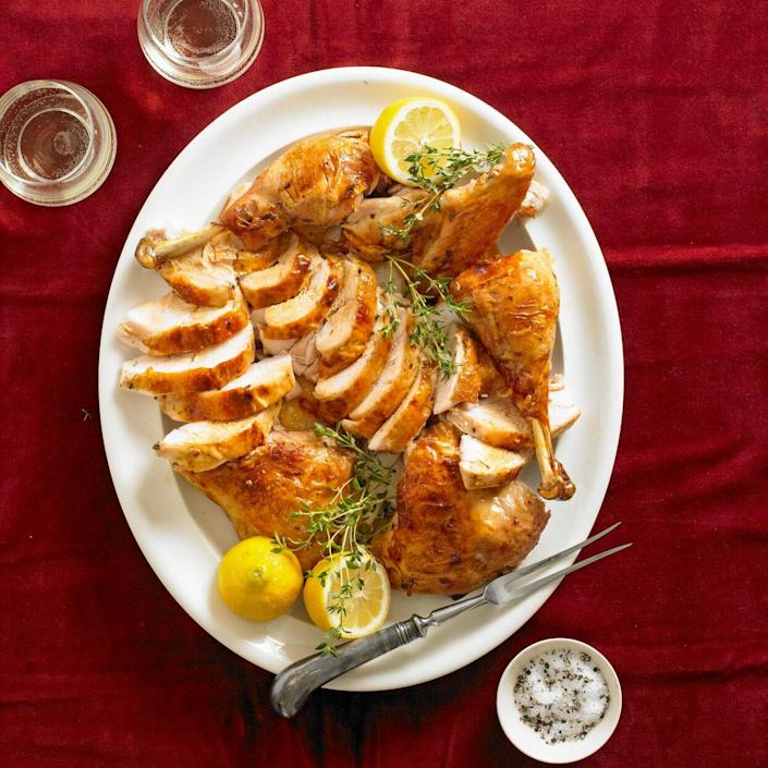 Tired of the same old Thanksgiving turkey? Give this citrusy, herby turkey recipe a try!