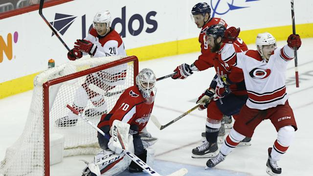 What were the weaknesses the Carolina Hurricanes exposed in the Caps and how does the team overcome those weaknesses next season?