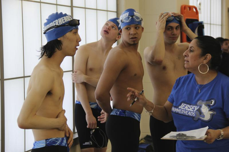 Founder Maria McQuay with team members Kelvin Truong, Robert Justino, Mike McQuay Jr. and Hayden Schumann. (Nicole Chan)