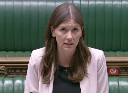 <p>Michelle Donelan claimed key books were being removed from reading lists by 'censors'</p> (ParliamentTV)