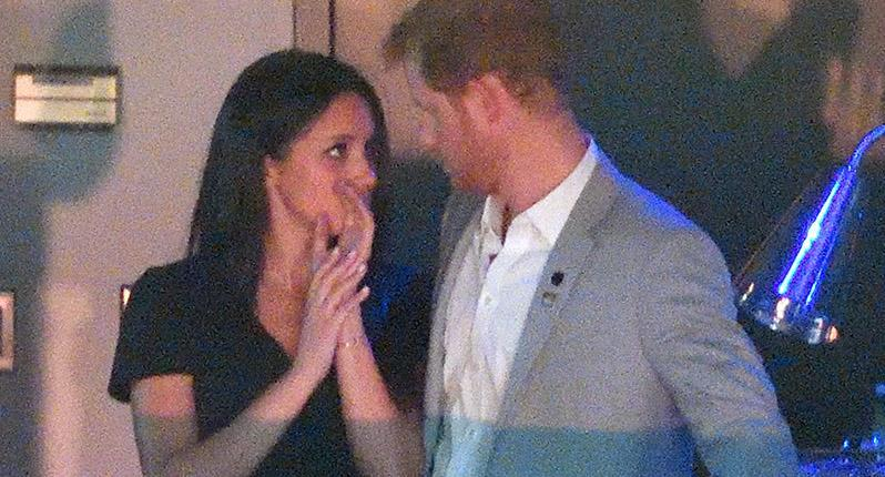 <p>Prince Harry and Meghan were photographed at the closing ceremony of the Invictus Games.</p>