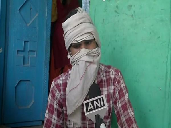 Brother of the victim of Hathras incident. Photo/ANI