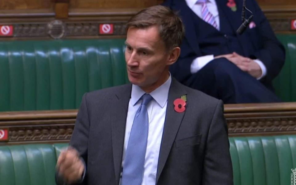 Jeremy Hunt describes choosing a vaccine to back is akin to roulette