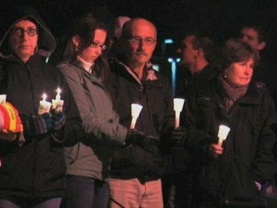 Residents of Webster, New York gathered for a vigil Christmas Eve. They remembered the two volunteer firefighters gunned down while responding to fire that morning. Two others were wounded. (Dec. 25)