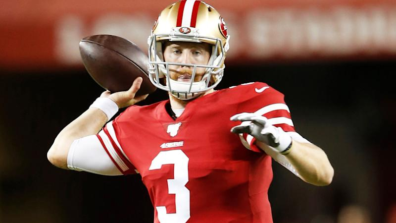CJ Beathard, pictured here in action against the Los Angeles Chargers.