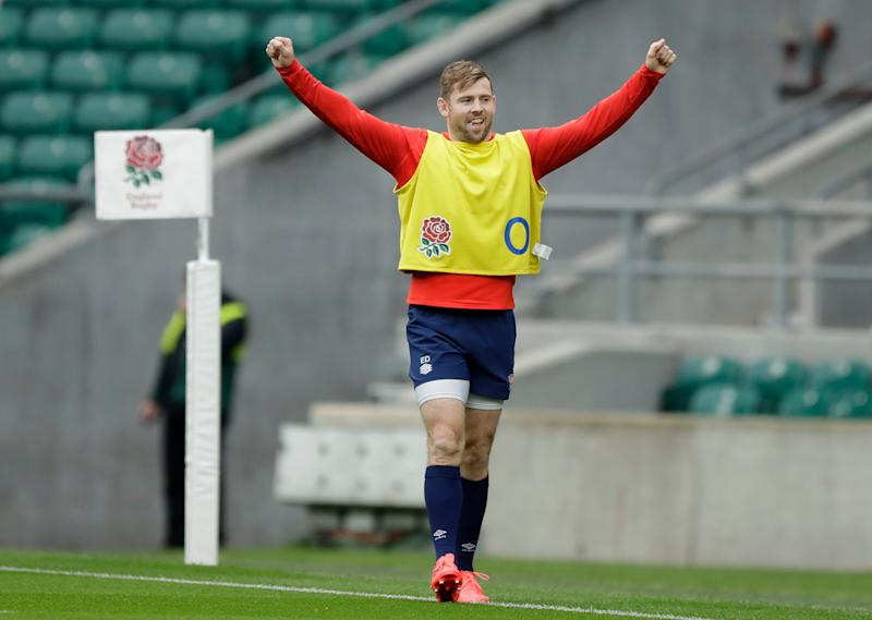 Elliot Daly is looking forward to getting back to Twickenham after eight months awayAP