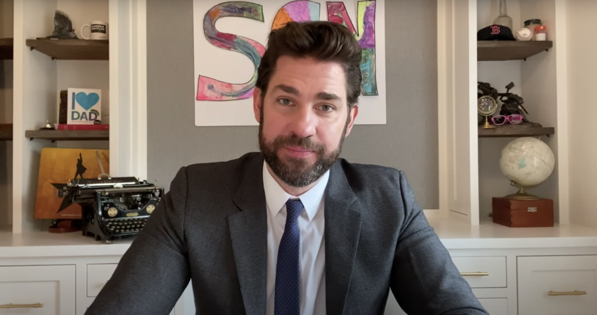"John Krasinski's YouTube show ""Some Good News"" operated on a deep well of coronavirus good will that won't likely extend to its new platform, CBS. <span class=""copyright"">(YouTube)</span>"