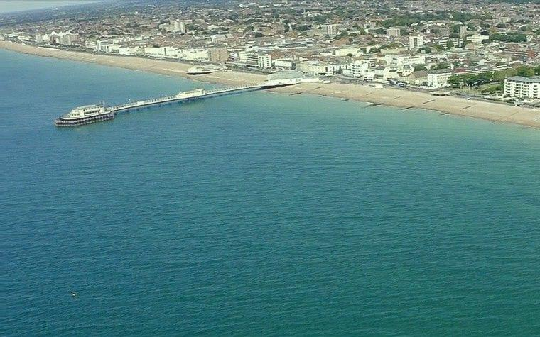 The seabed off the coast of Worthing pier Sussex is to be leased from the Queen as part of a plan to create a vast marine park and a haven for sea life - PA
