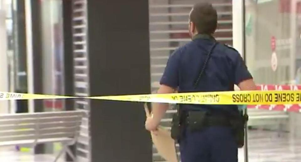 Officers return to the scene of on Tuesday. Source: 7 News