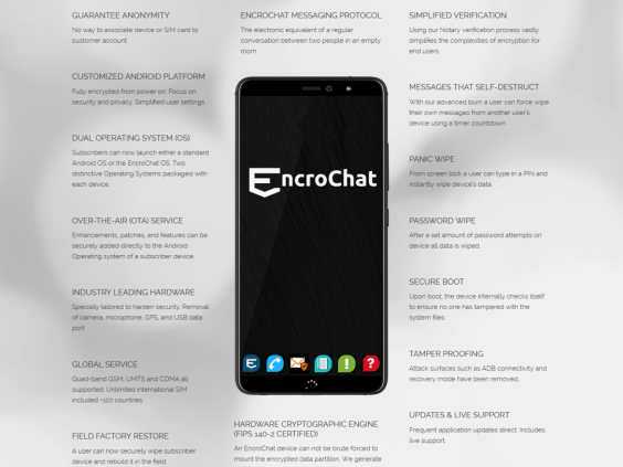 An online advertising page for EncroPhones