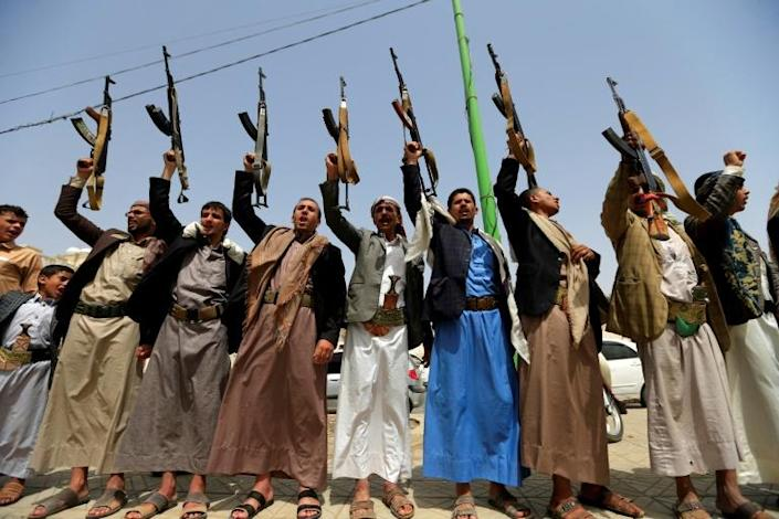 The Iran-aligned Huthi rebels control swathes of Yemen including the capital Sanaa (AFP Photo/Mohammed HUWAIS)