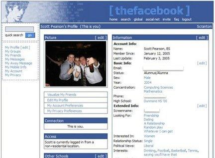 old fb profile