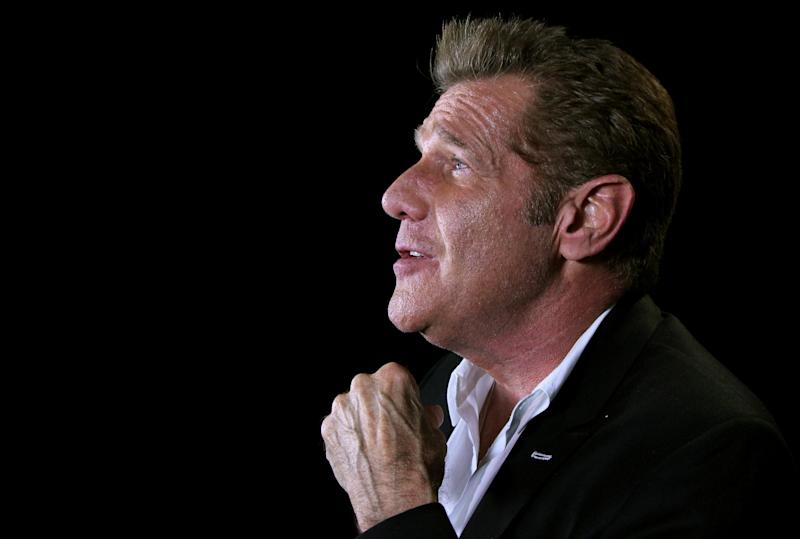 """In this May 7, 2012 photo, musician Glenn Frey is shown in New York.  On his latest solo record """"After Hours,"""" Frey covers artist like Tony Bennett, Nat King Cole, and the Beach Boys. (AP Photo/John Carucci)"""