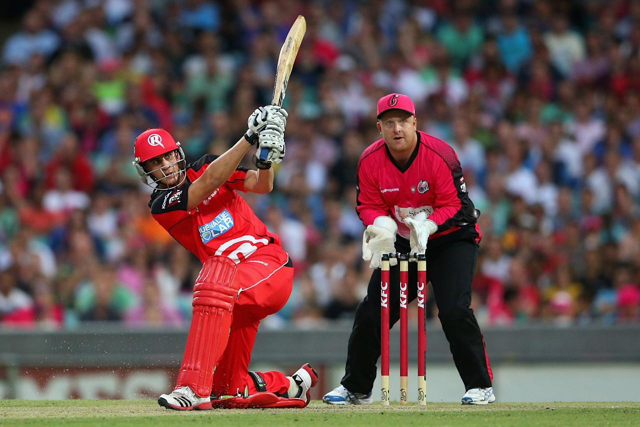SYDNEY, AUSTRALIA - JANUARY 09:  Alex Hales of the Renegades bats during the Big Bash League match between the Sydney Sixers and the Melbourne Renegades at SCG on January 9, 2013 in Sydney, Australia.  (Photo by Cameron Spencer/Getty Images)