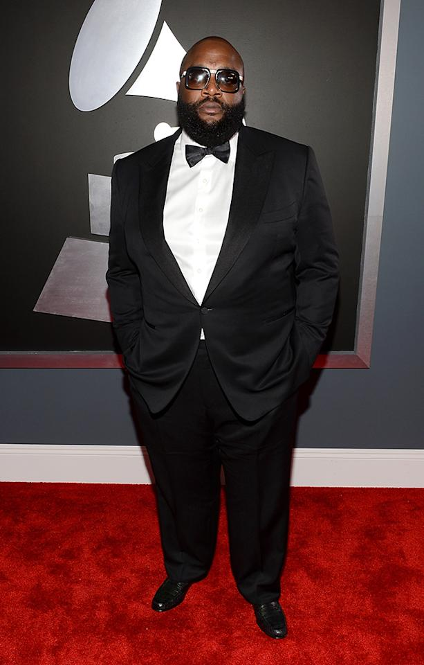 Rick Ross arrives at the 55th Annual Grammy Awards at the Staples Center in Los Angeles, CA on February 10, 2013.