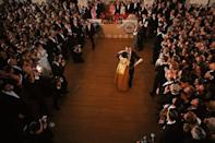 <p>President Johnson's first term in office officially began after the assassination of John F. Kennedy in 1963, but the 36th President did not hold an inaugural ball until he won the Presidential election in 1964. </p>