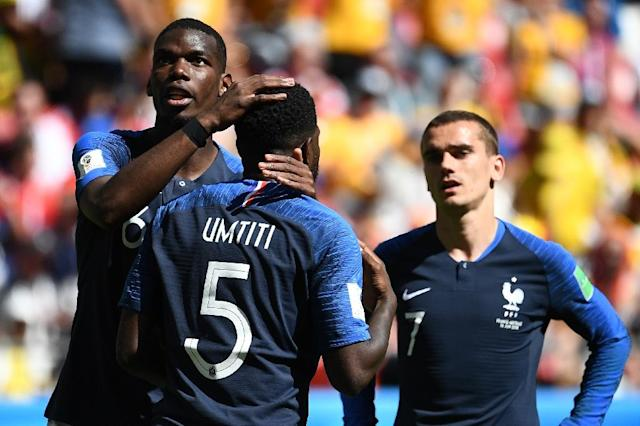 France defender Samuel Umtiti took to social media to alleviate his embarrassment after his handball led to an Australia penalty (AFP Photo/FRANCK FIFE)