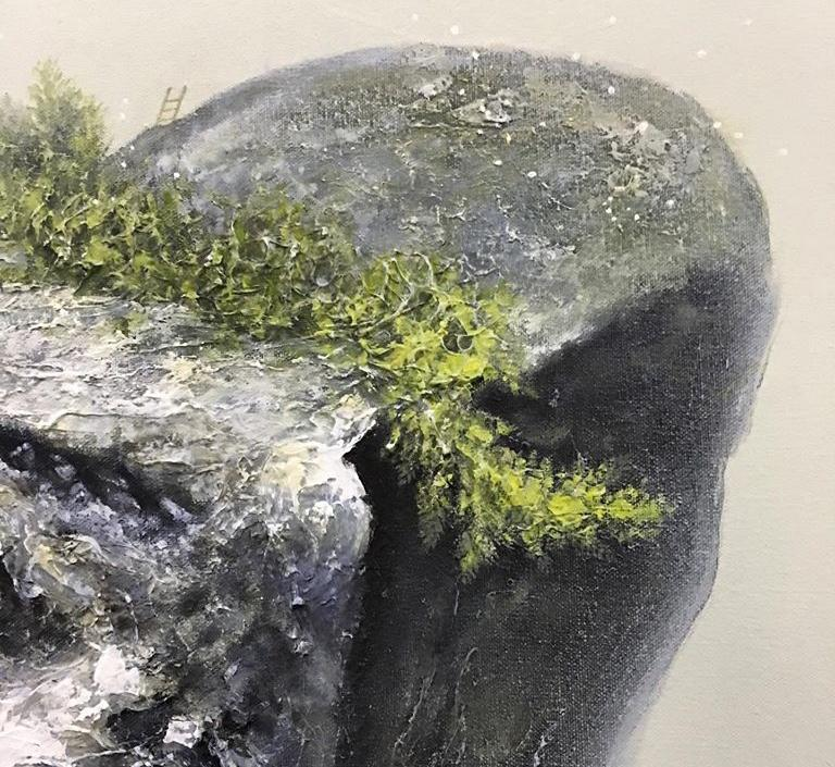 """Details of Hersley Casero's """"On the Rocks"""" exhibit. <i>Photo: Space Encounters Gallery / FB</i>"""