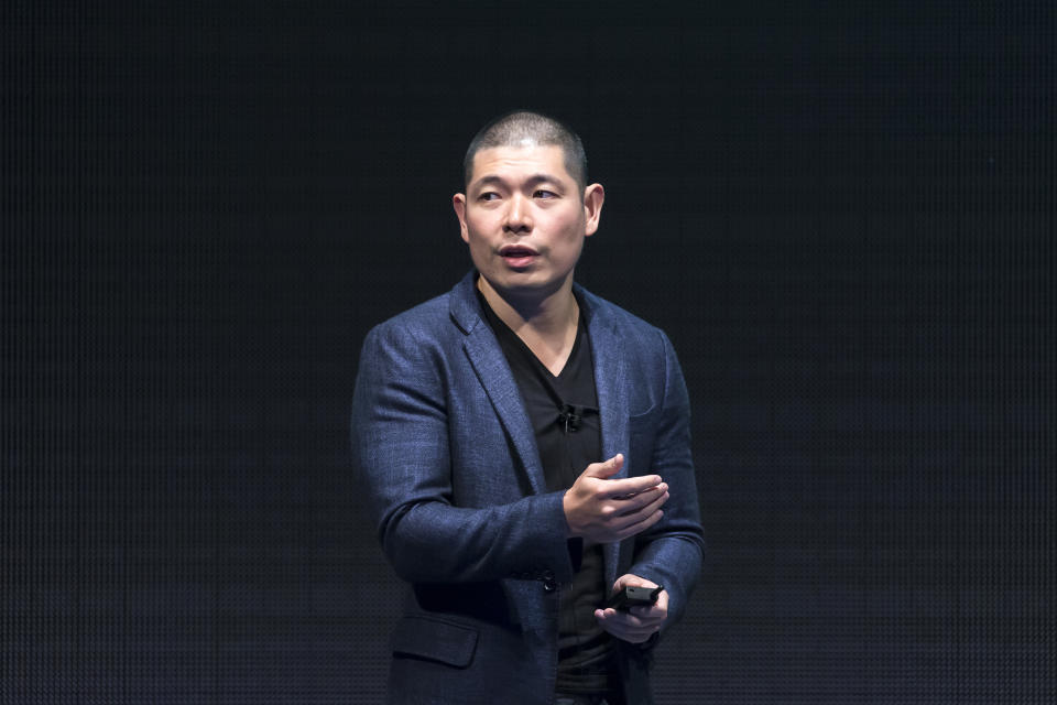 TOKYO, JAPAN - JULY 18:  Grab Holdings Inc. Co-founder and Chief Executive Officer Anthony Tan makes a speech during the SoftBank World 2019 conference on July 18, 2019 in Tokyo, Japan. The annual business event hosted by SoftBank, Japan's multinational telecommunications and internet company, takes place for 2 days until July 19.  (Photo by Tomohiro Ohsumi/Getty Images)