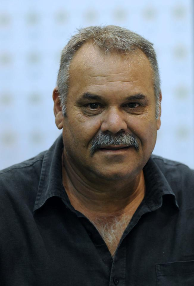 Newly appointed Pakistan cricket team coach Dav Whatmore addresses a press conference in Lahore on March 4, 2012.