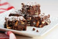 """<p>Chocolate is the name of the game in this gooey brownie recipe, which uses <a href=""""https://www.thedailymeal.com/cook/13-swoon-worthy-chocolate-desserts-valentines-day-0?referrer=yahoo&category=beauty_food&include_utm=1&utm_medium=referral&utm_source=yahoo&utm_campaign=feed"""" rel=""""nofollow noopener"""" target=""""_blank"""" data-ylk=""""slk:four different kinds of chocolate"""" class=""""link rapid-noclick-resp"""">four different kinds of chocolate</a>: unsweetened, bittersweet, white and cacao nibs.</p> <p><a href=""""https://www.thedailymeal.com/recipes/chocolate-chocolate-pecan-brownies-recipe?referrer=yahoo&category=beauty_food&include_utm=1&utm_medium=referral&utm_source=yahoo&utm_campaign=feed"""" rel=""""nofollow noopener"""" target=""""_blank"""" data-ylk=""""slk:For the Chocolate Chocolate Pecan Brownies recipe, click here."""" class=""""link rapid-noclick-resp"""">For the Chocolate Chocolate Pecan Brownies recipe, click here.</a></p>"""