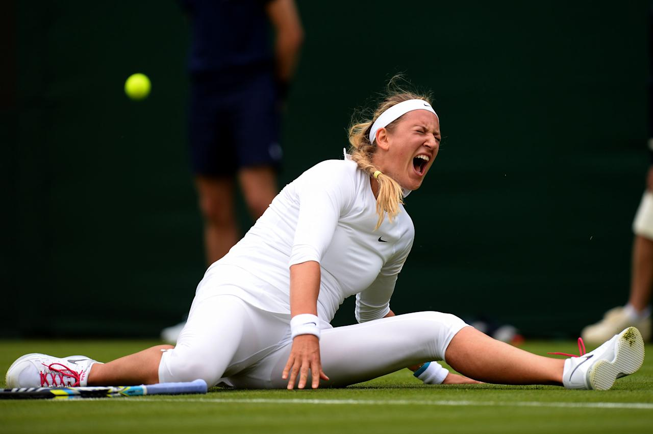 File photo dated 24/6/2013 of Belarus' Victoria Azarenka.