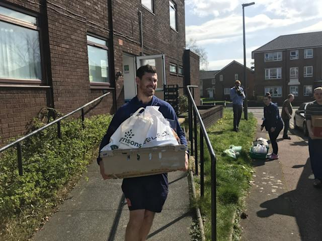 Blackburn Rovers Community Trust have helped deliver food packages across the town (Blackburn Rovers/PA)