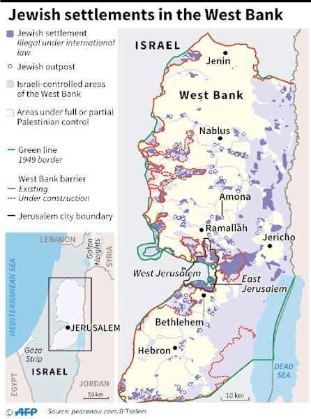 Jewish settlements in the West Bank (AFP Photo/)