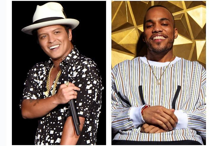 A split image of Bruno Mars and Anderson .Paak