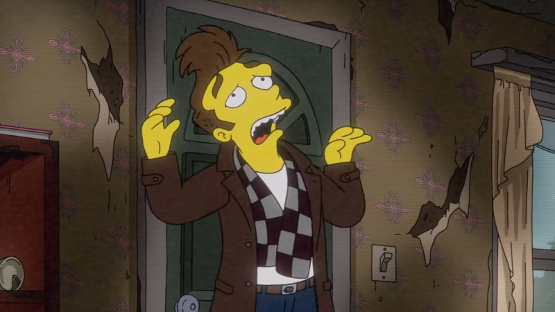 The Simpsons version of Morrissey, moaning about being a version of Morrissey.