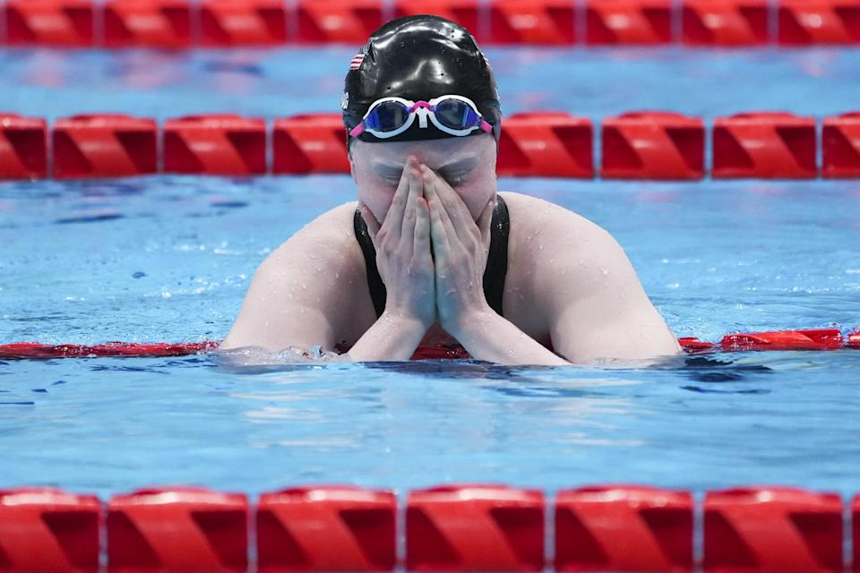 """<p>For Young, the pool is a space where it's just her and the water that holds her up. The simplicity of being in the water is what she finds so inclusive about the sport. """"<a href=""""http://www.colleenroseyoung.com/about"""" class=""""link rapid-noclick-resp"""" rel=""""nofollow noopener"""" target=""""_blank"""" data-ylk=""""slk:Anyone can swim, any ability,"""">Anyone can swim, any ability,</a> any age, because the water treats you the same,"""" she has said.</p>"""