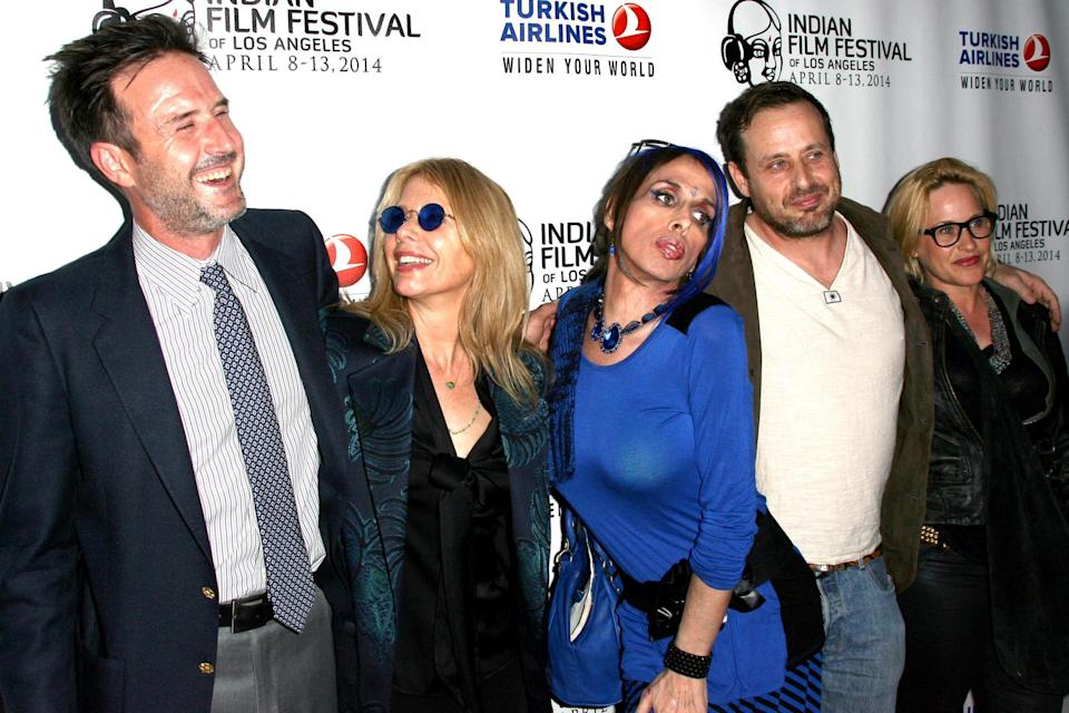 David Arquette, Rosanna Arquette, Alexis Arquette, Richmond Arquette and Patricia Arquette attend the 2014 Indian Film Festival of Los Angeles opening night screening of 'Sold' held at the ArcLight Cinemas on April 8, 2014 in Hollywood, California. (Photo by Tommaso Boddi/WireImage)