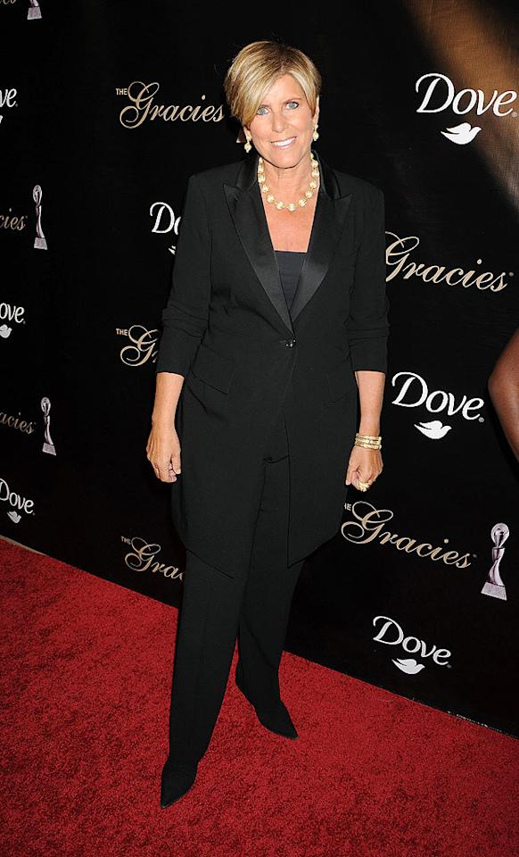 """Finance guru Suze Orman has lamented that she and longtime partner Kathy Travis, a producer on her CNBC show, can't tie the knot. """"It's killing me that upon my death, K.T. is going to lose 50 percent of everything I have to estate taxes. Or vice versa,"""" she said. Jeffrey Mayer/<a href=""""http://www.wireimage.com"""" target=""""new"""">WireImage.com</a> - May 25, 2010"""