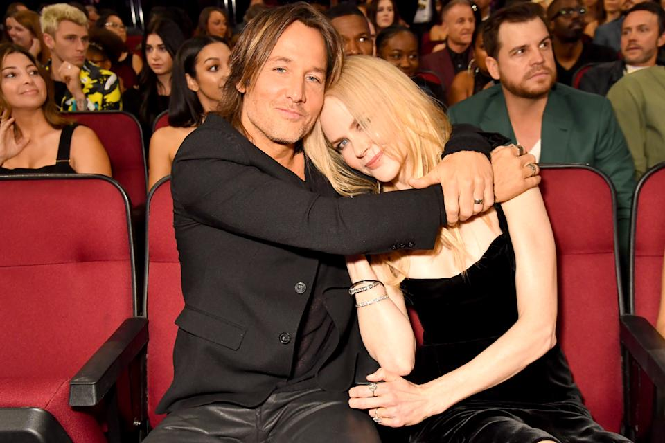 Nicole Kidman and Keith Urban onstage during the 2017 American Music Awards at Microsoft Theater on November 19, 2017 in Los Angeles, California.