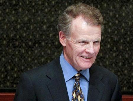 Madigan, speaker of the Illinois Representatives, listens to the State of the State address in Springfield