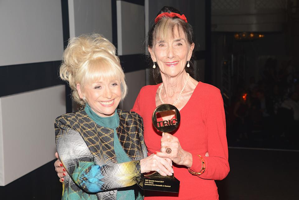 Dame Barbara Windsor and June Brown pose at the TRIC Awards 2017 (Photo by Dave J Hogan/Getty Images)