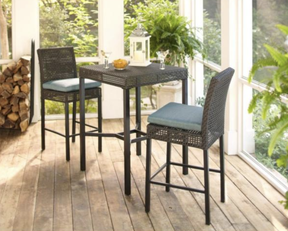 Counter-height chairs add a coffeeshop vibe to any space. (Photo: The Home Depot)
