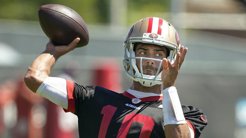 buy popular e3b78 829ad Why Kyle Shanahan had to abort rep with Jimmy Garoppolo at ...