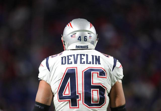 "<a class=""link rapid-noclick-resp"" href=""/nfl/players/24760/"" data-ylk=""slk:James Develin"">James Develin</a>'s performance against the Vikings leads unexpected NFL results from Week 13. (Photo by Tom Szczerbowski/Getty Images)"